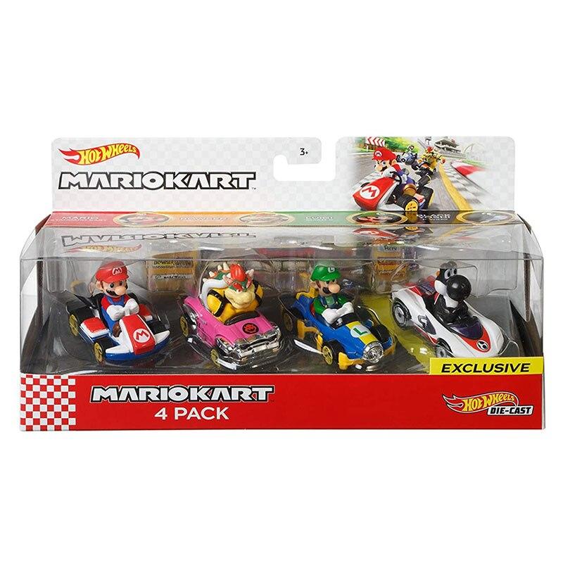 HOT WHEELS New Little Hot Sports Car Super Mario Bros 1:64 Figures Alloy Car Children Boys Car Model Toys